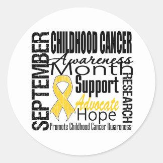 Tributo del mes de la conciencia del cáncer de la etiqueta redonda