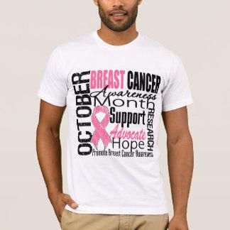 Tributo del mes de la conciencia del cáncer de playera