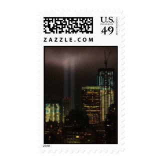 Tributo del World Trade Center en la luz 2011 #01 Franqueo