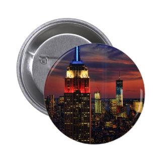 Tributo en de sept. el 11, ESB #1 de la luz de Pin Redondo De 2 Pulgadas