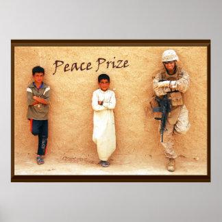 Tributo militar premiado de la paz póster