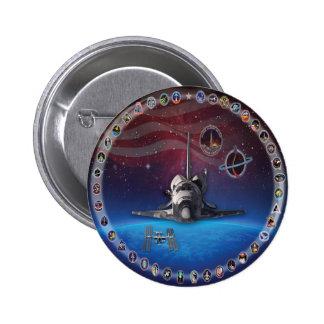 Tributo OV 103 del descubrimiento Pin Redondo De 2 Pulgadas