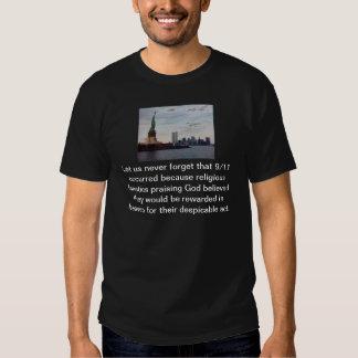 Tributo y Rememberence del ateo 9/11 Remera