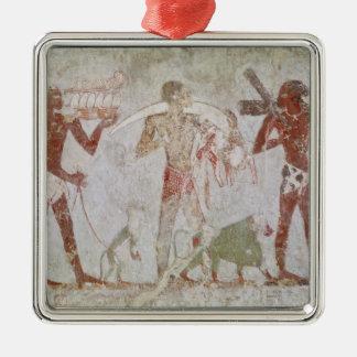 Tributos que llevan de Kushites del oro Adorno Navideño Cuadrado De Metal
