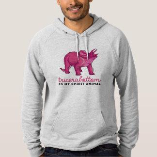 Tricerabottom is my spirit animal - LGBT Design -. Hooded Pullover