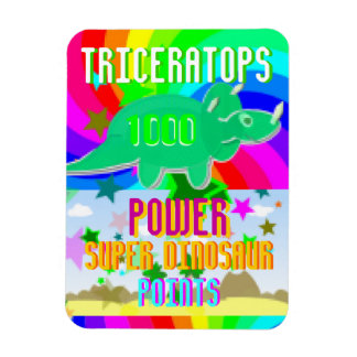 Triceratops 1000 Power Super Dinosaur Points Magnet