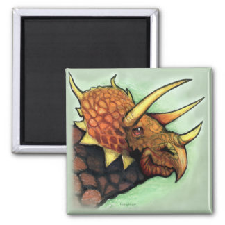 Triceratops 2 Inch Square Magnet