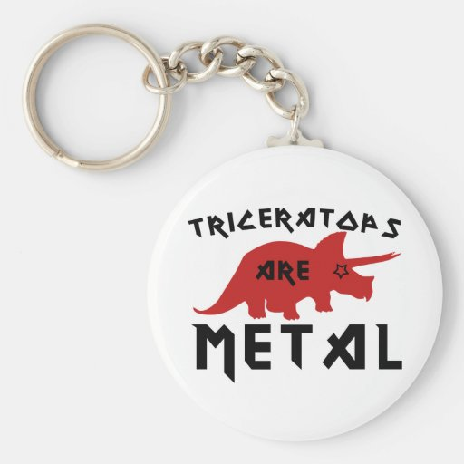 Triceratops are Metal Keychain