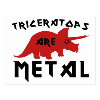 Triceratops are Metal Postcard