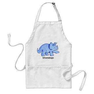 Triceratops azul delantal