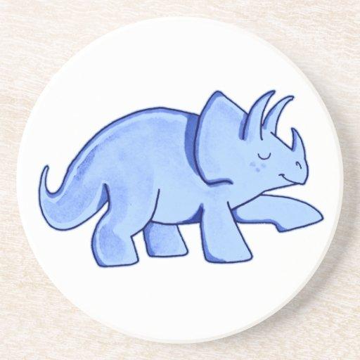 Triceratops azul posavaso para bebida