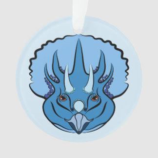 Triceratops Blue Cute Dinosaur Ornament