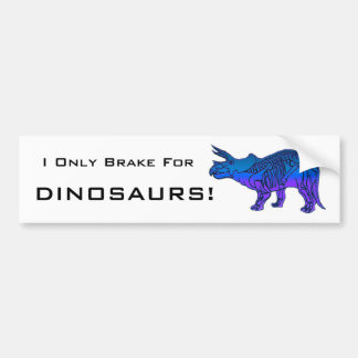Triceratops Car Bumper Sticker