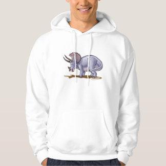 triceratops cartoon dinosaur hoodie