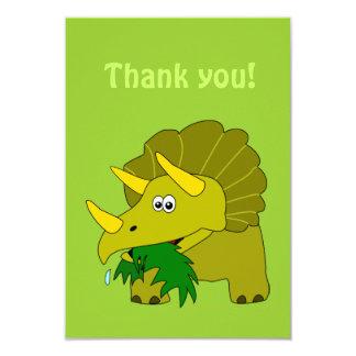 Triceratops Cartoon Dinosaur Thank You Cards