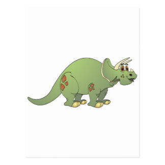 Triceratops Cartoon Post Card