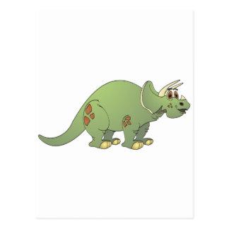 Triceratops Cartoon Postcard