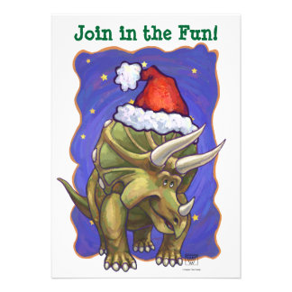 Triceratops Christmas Custom Announcements