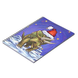 Triceratops Christmas Spiral Notebook