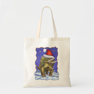 Triceratops Christmas Tote Bag