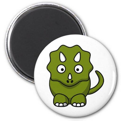 Triceratops del dibujo animado iman de frigorífico