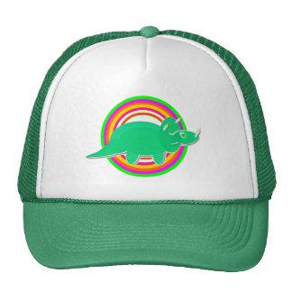 Triceratops del dinosaurio verde gorros bordados