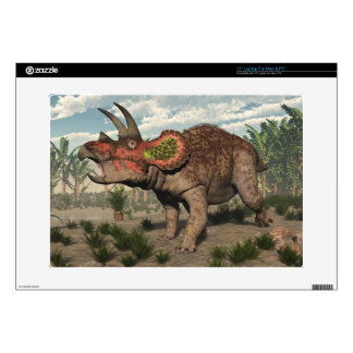 Triceratops dinosaur - 3D render Decal For Laptop