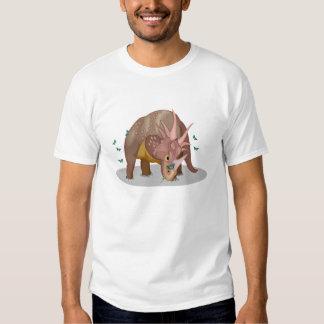 Triceratops Dinosaur Butterflies Tee Shirt