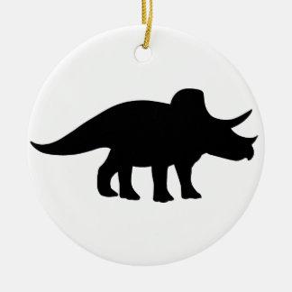 Triceratops Dinosaur. Ceramic Ornament
