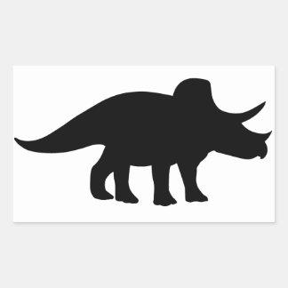 Triceratops Dinosaur. Rectangular Sticker