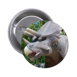 Triceratops Dinosaurs Button