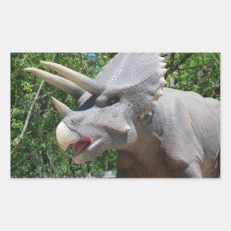 Triceratops Dinosaurs Rectangular Sticker