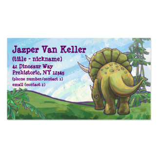 Triceratops Gifts & Accessories Double-Sided Standard Business Cards (Pack Of 100)