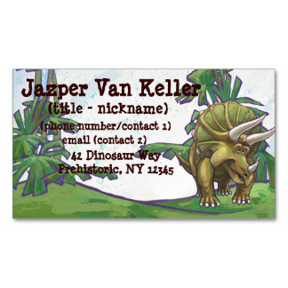 Triceratops Gifts & Accessories Magnetic Business Cards (Pack Of 25)