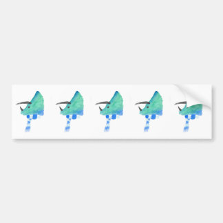 Triceratops In A Scarf Bumper Sticker