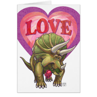 Triceratops In Love Valentine's Day Card