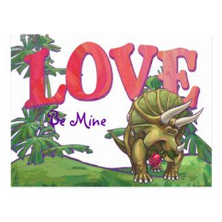 Triceratops In Love Valentine's Day Postcard