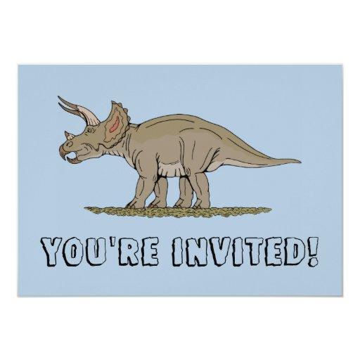 """Triceratops Invitation 5"""" X 7"""" Invitation Card"""