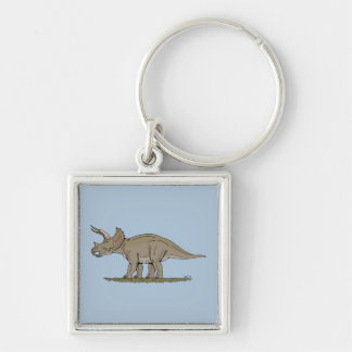 Triceratops Keychain