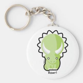 Triceratops Keychain