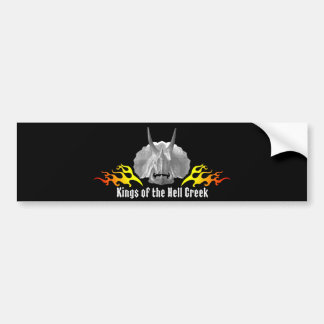 "Triceratops ""Kings of the Hell Creek"" Car Bumper Sticker"