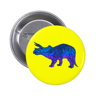 Triceratops Pinback Button