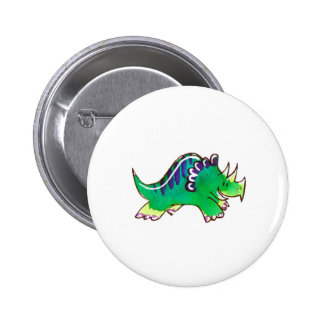 Triceratops Pinback Buttons