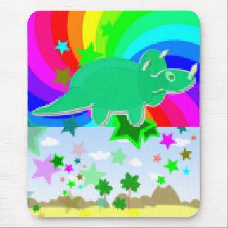Triceratops Pixel Dinosaur Mouse Pad