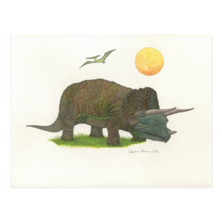 Triceratops Postcard