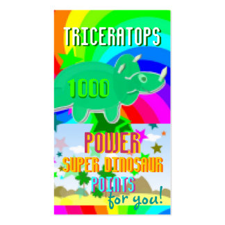Triceratops Power Super Dinosaur 1000 Points Cards Business Card Templates