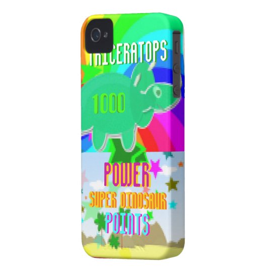 Triceratops Power Super Dinosaur 1000 Points iPhone 4 Case