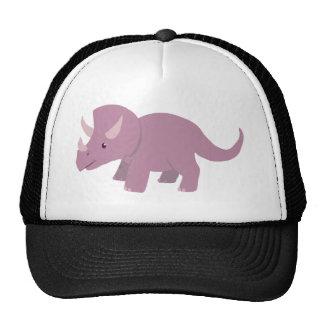 Triceratops púrpura lindo Torosaurus del bebé Gorros