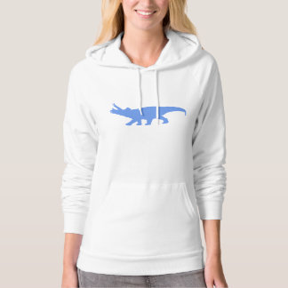 Triceratops Silhouette (Blue) Hoodies