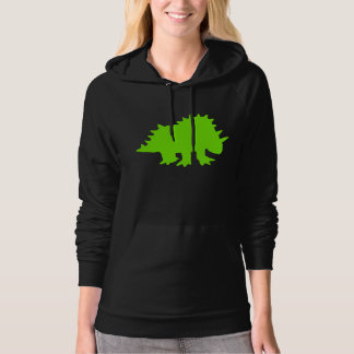 Triceratops Silhouette (Green) Hoodies